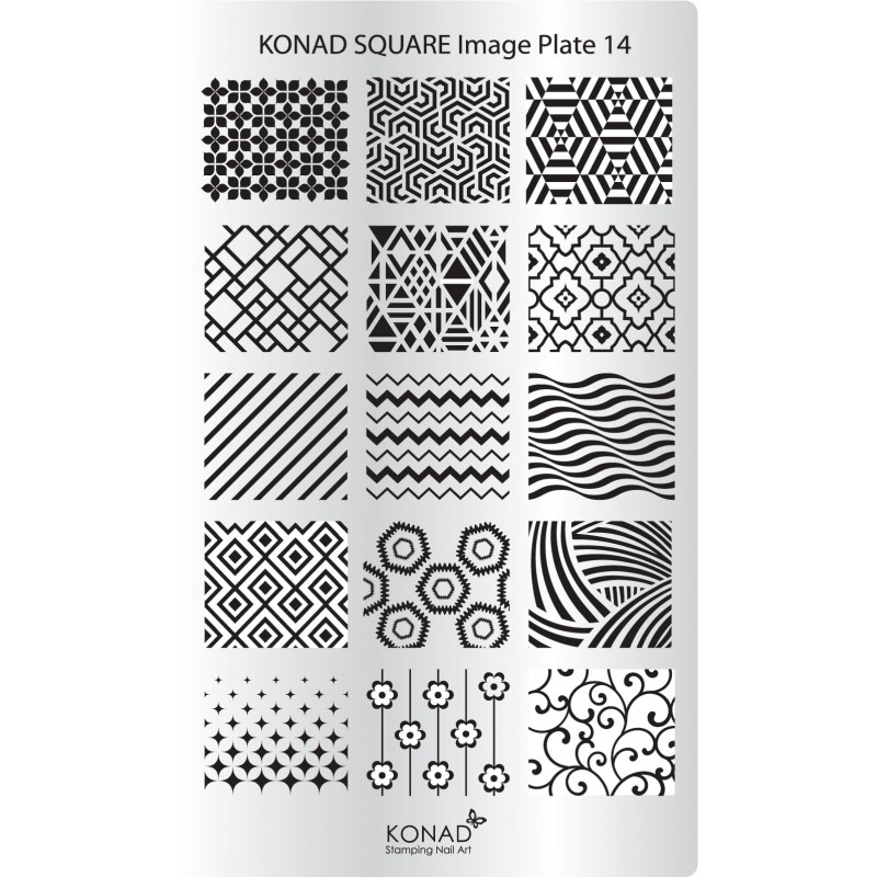Placa Rectangular 11 Konad