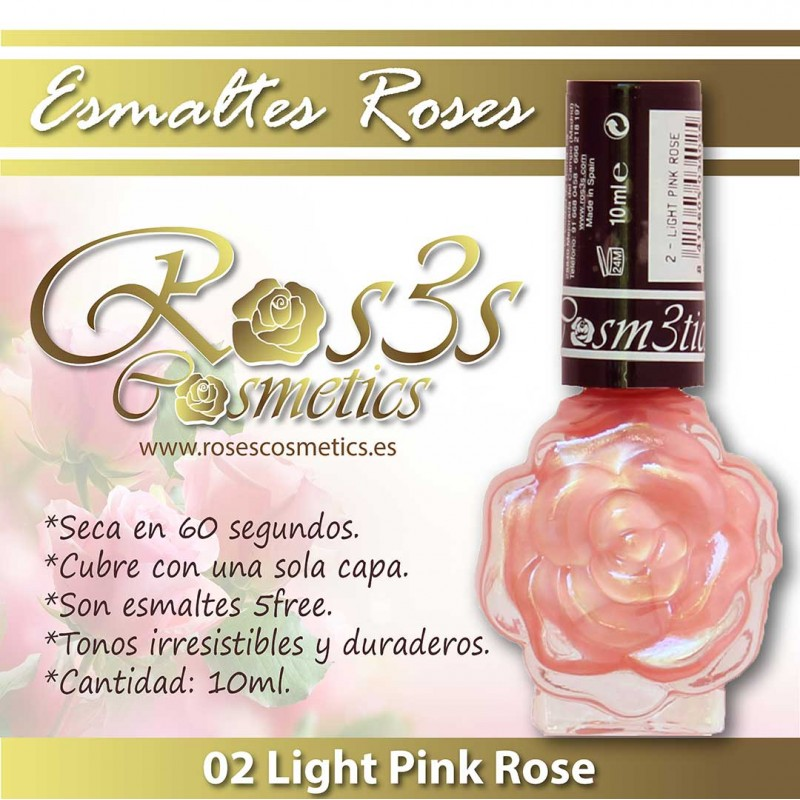 Light Pink Rose 02 Esmalte de uñas Ros3s (10ml)
