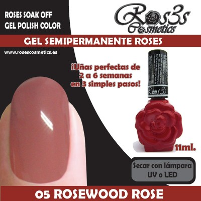 05-Rosewood Rose Gel Semipermanente Ros3s