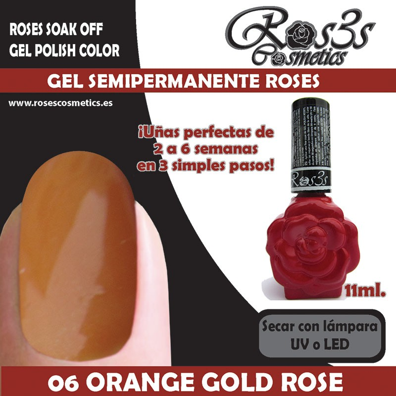 06-Orange Gold Rose Gel Semipermanente Ros3s