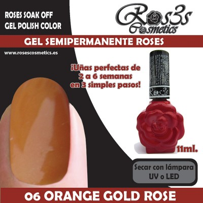 06-Orange Gold Rose