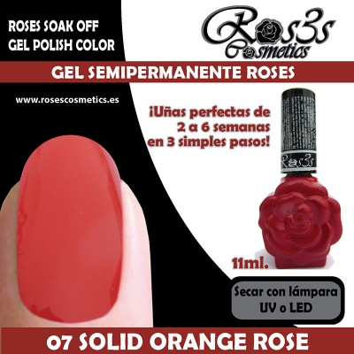 07-Solid Orange Rose Gel Semipermanente Ros3s