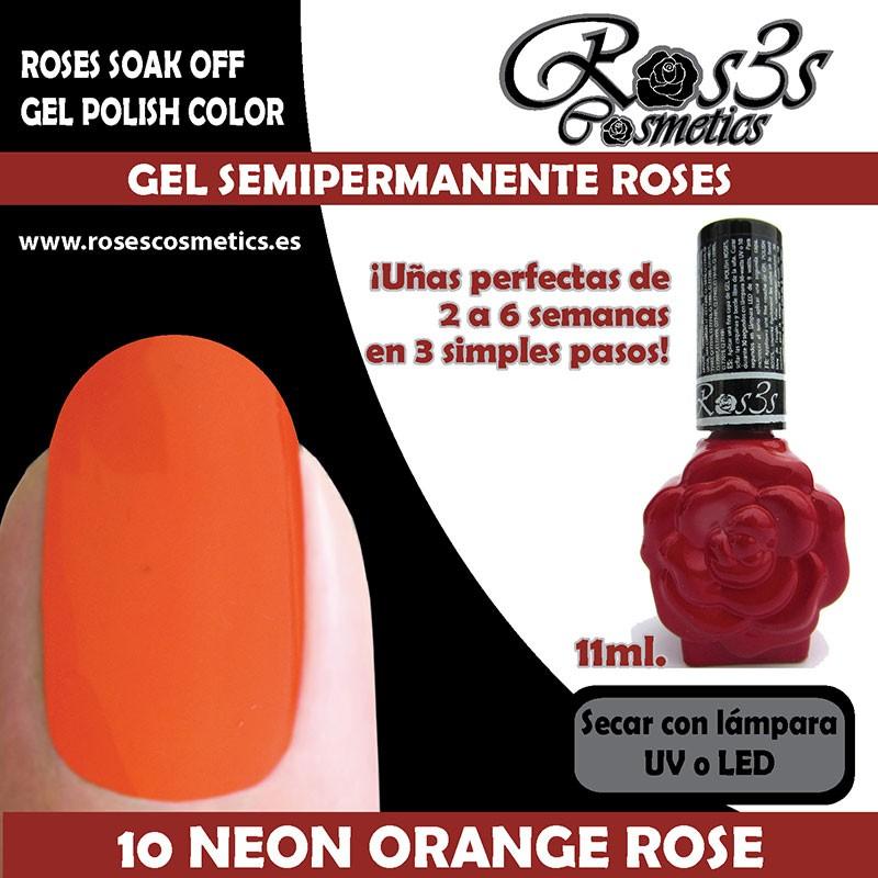 10-Neon Orange Rose