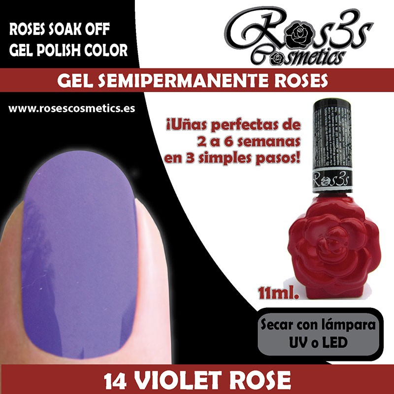 14-Violet Rose Gel Semipermanente Ros3s