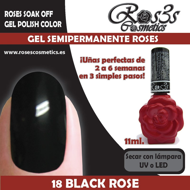 18-Black Rose Gel Semipermanente Ros3s