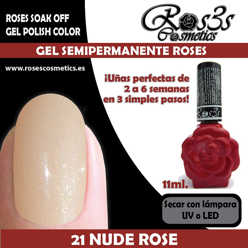 21-Nude Rose Gel Semipermanente Ros3s