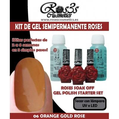 Kit 06-Orange Gold Gel semipermanente Ros3s
