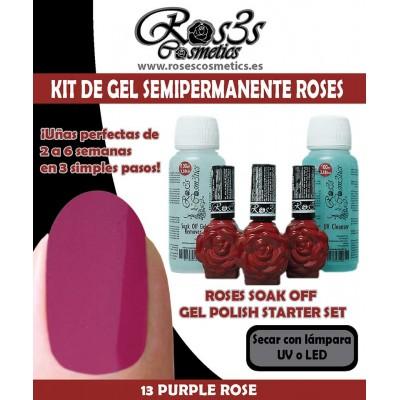 Kit Ros3s color: 13-Purple Rose + Regalo