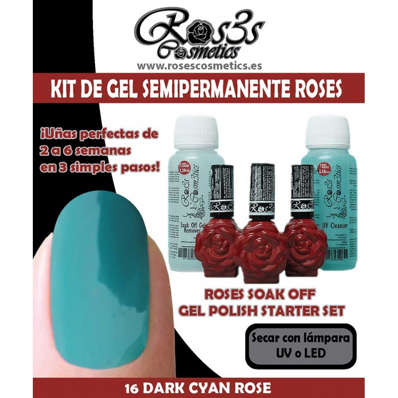 Kit Ros3s color: 16-Dark Cyan Rose + Regalo