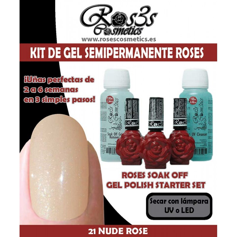 Kit 21-Nude Rose Gel semipermanente Ros3s