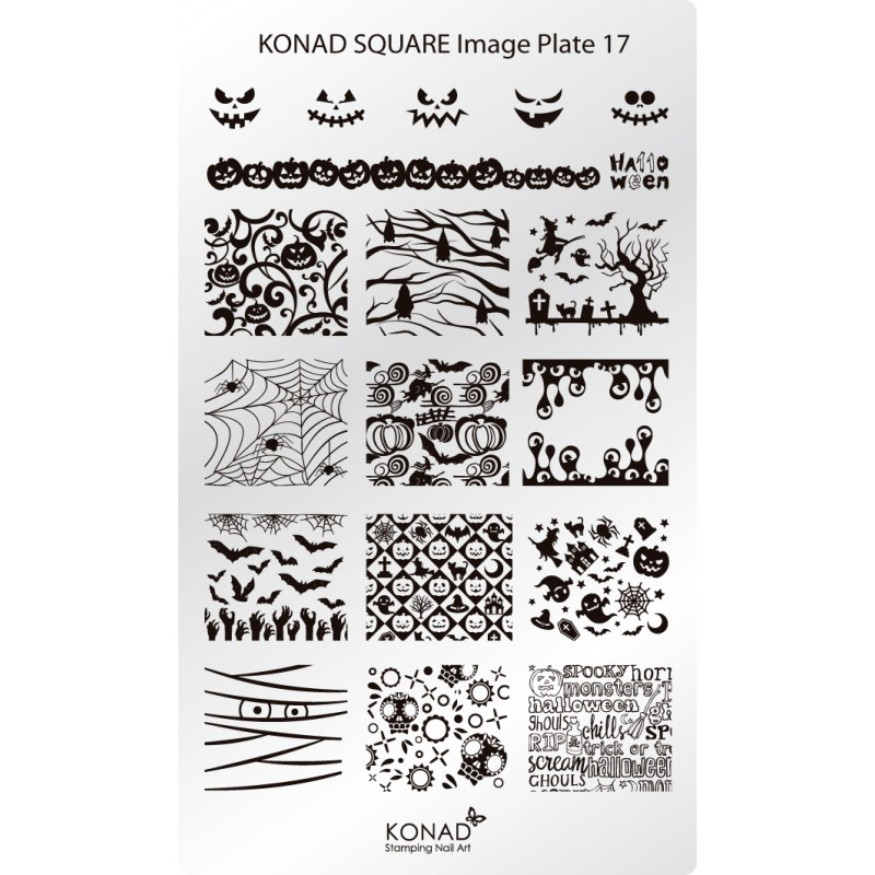 Placa de diseños rectangular. C17