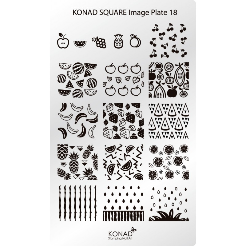 Placa de diseños rectangular. C18