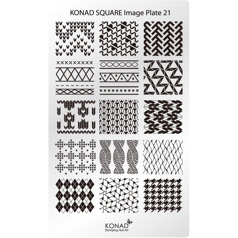 Placa de diseños rectangular. C21