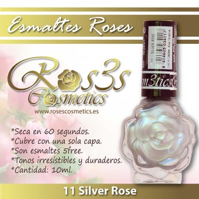 Esmalte Ros3s (10ml) 11 Silver Rose