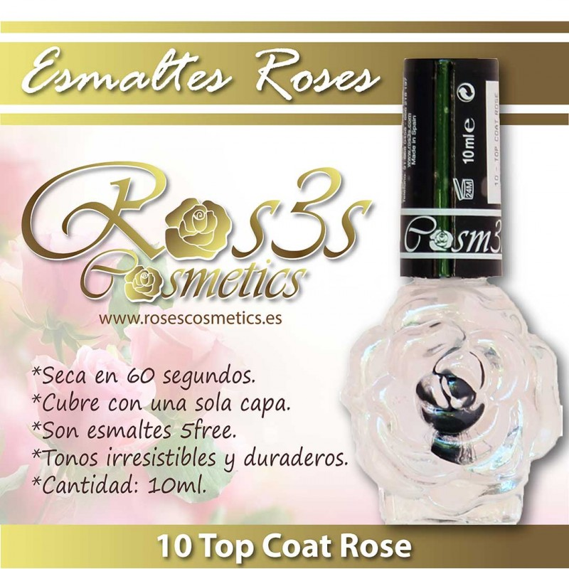 Esmalte Ros3s (10ml) 10 Top Coat Rose