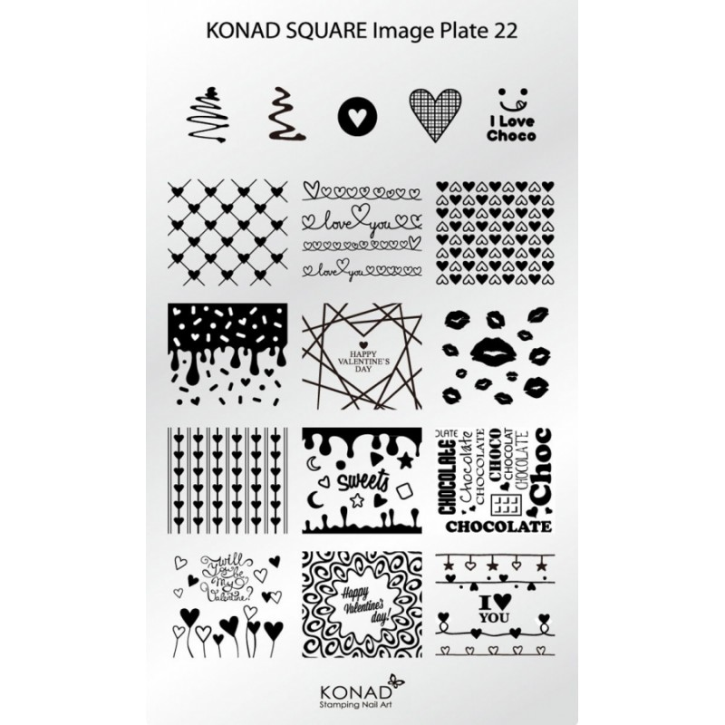 Placa de diseños rectangular. C22