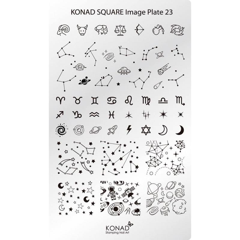 Placa de diseños rectangular. C23