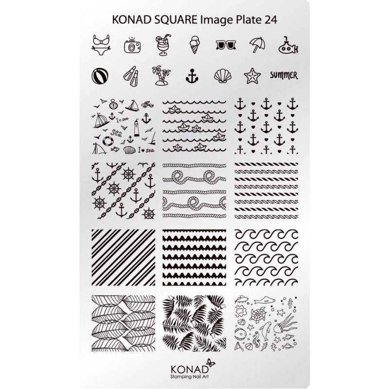 Placa de diseños rectangular. C24