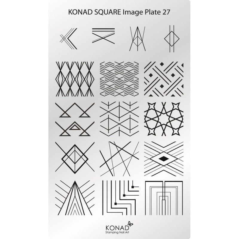 C26 Placa de diseños Rectangular Konad