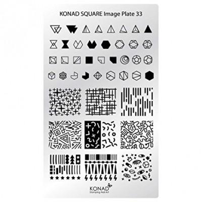 C33 Placa de diseños Rectangular Konad