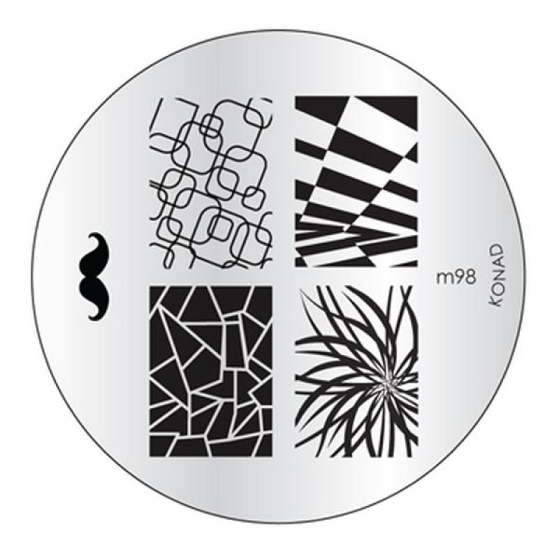 Placa de diseños Konad m98