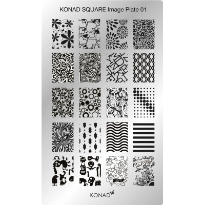Placa Rectangular 01 Konad
