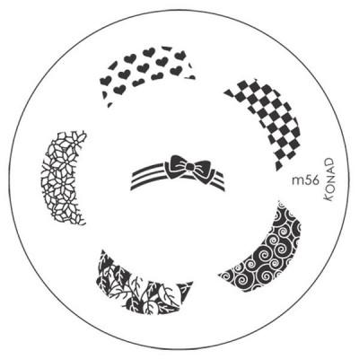 Placa de Diseños Konad m56