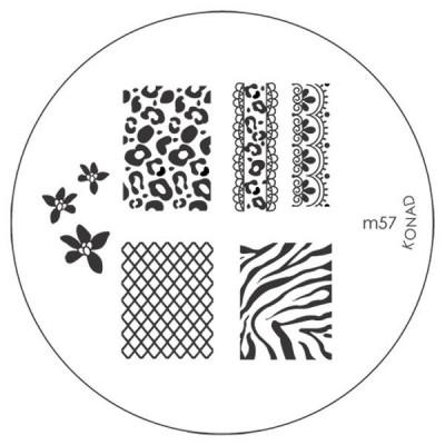 Placa de Diseños KONAD m57