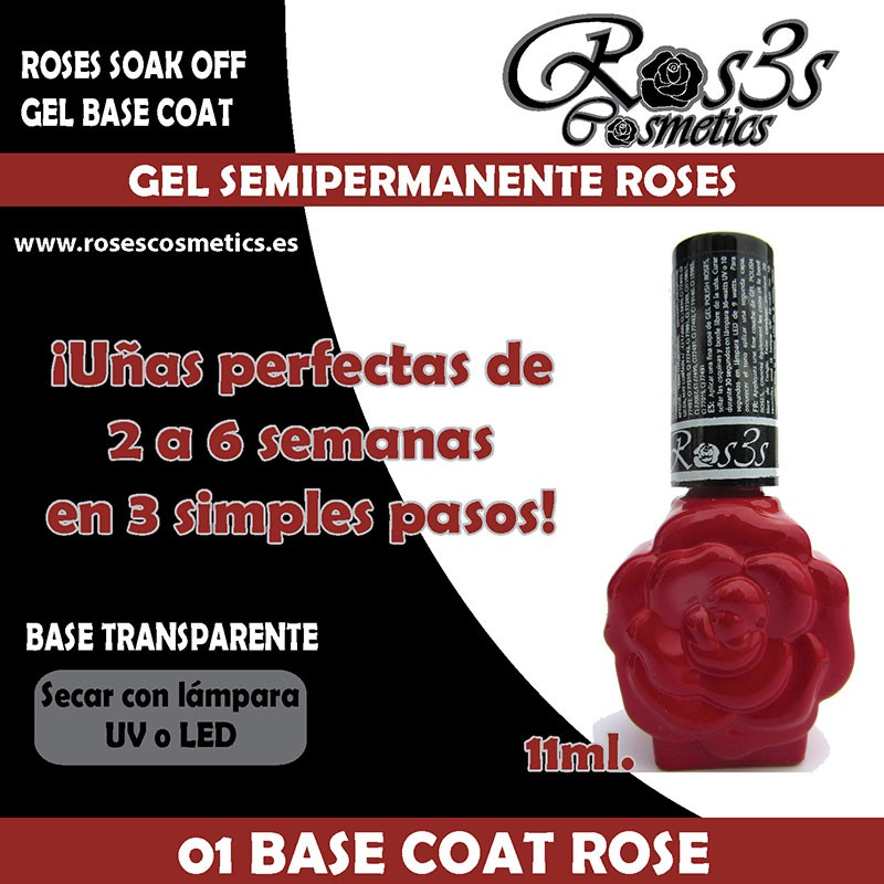 01-Gel Base Roses Gel semipermanente (11ml)