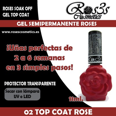 02-Top Coat Roses Gel semipermanente (11ml)
