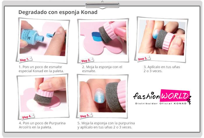 Instrucciones esponja Konad