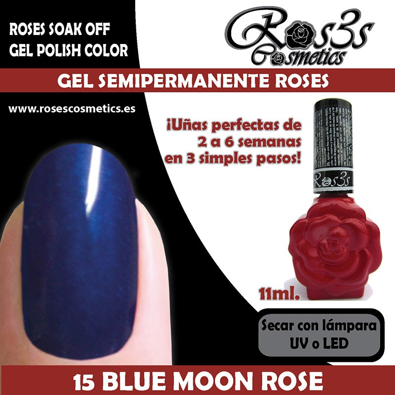 15-Blue Moon Rose Gel Semipermanente Ros3s