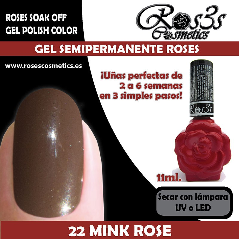 22-Mink Rose Gel Semipermanente Ros3s