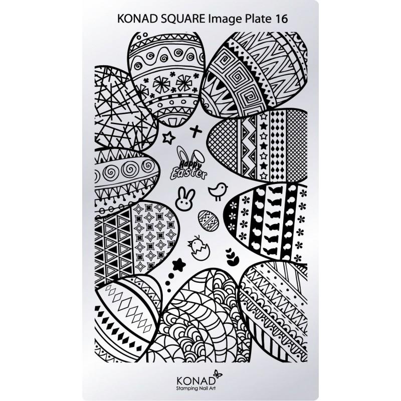 Placa de diseños rectangular. C16
