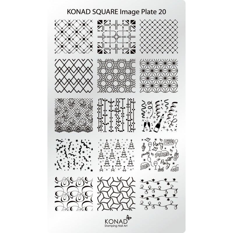 Placa de diseños rectangular. C20