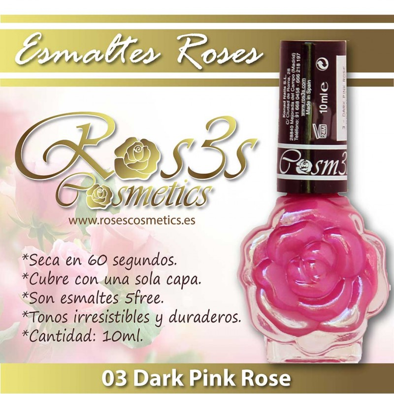 Dark Pink Rose 03 Esmalte de uñas Ros3s (10ml)