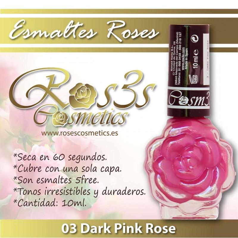 Esmalte Ros3s (10ml) 03 Dark Pink Rose