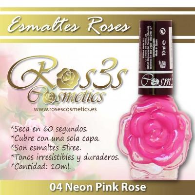 Esmalte Ros3s (10ml) 04 Neon Pink Rose