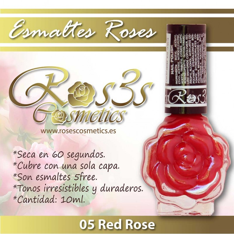 Esmalte Ros3s (10ml) 05 Red Rose