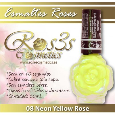 Esmalte Ros3s (10ml) 08 Neon Yellow Rose