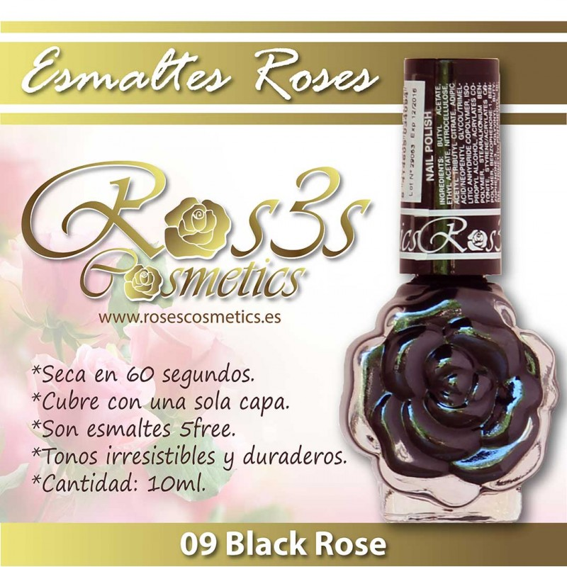 Esmalte Ros3s (10ml) 09 Black Rose