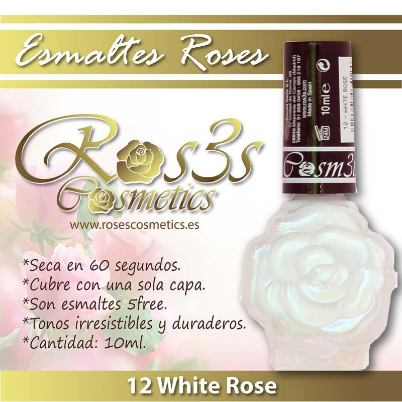 Esmalte Ros3s (10ml) 12 White Rose
