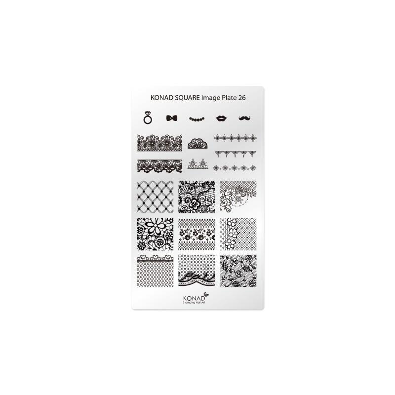 Placa de diseños rectangular. C26