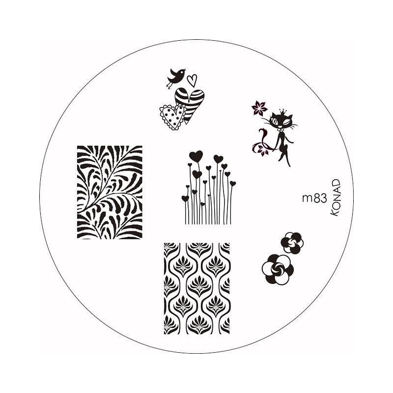 Placa de Diseños Konad m83