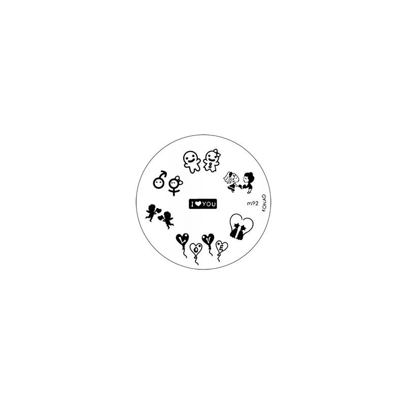 Placa de Diseños KONAD m92