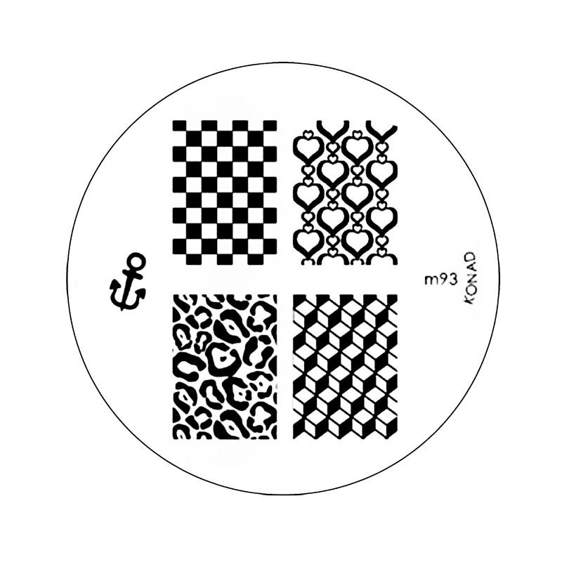 Placa de Diseños KONAD m93