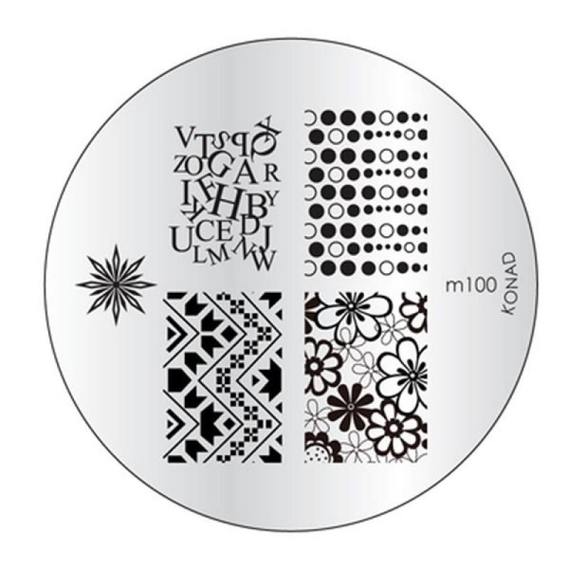 Placa de diseños Konad m100