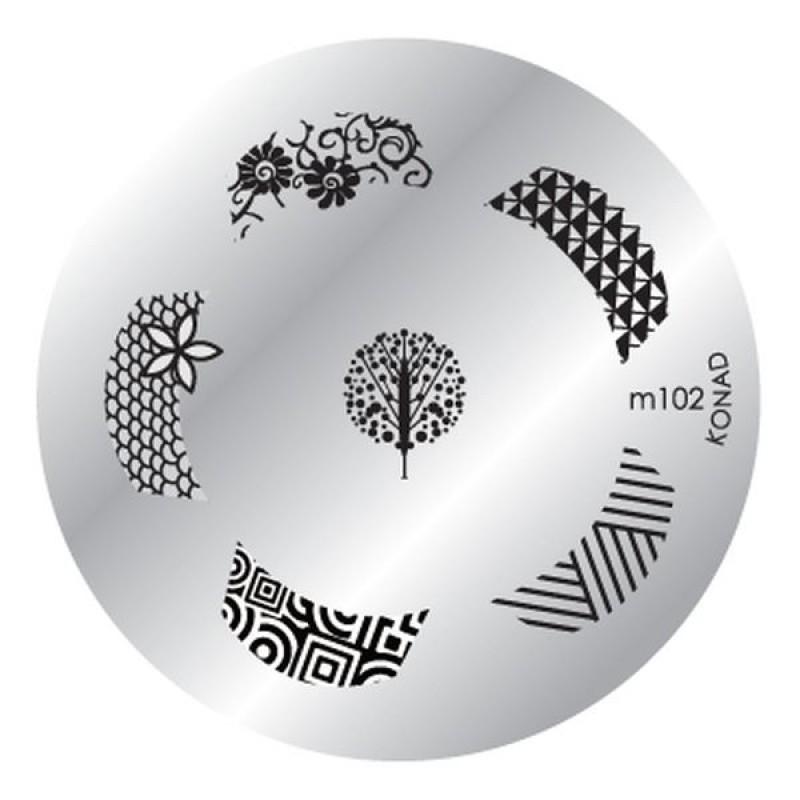 Placa de diseños Konad m102